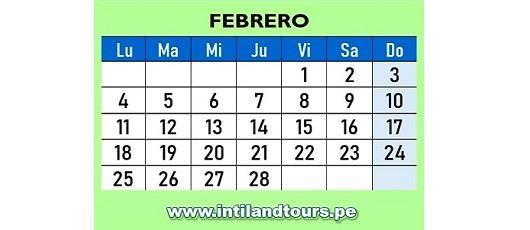 Febrero 2019 Calendario.Calendario 2019