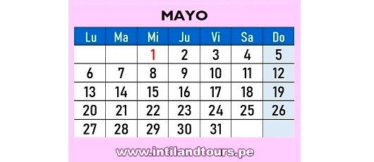 Calendario Agosto 2019 Peru.Calendario 2019