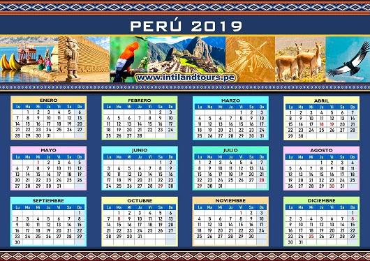 Calendario De Octubre 2019 Peru.Calendario 2019